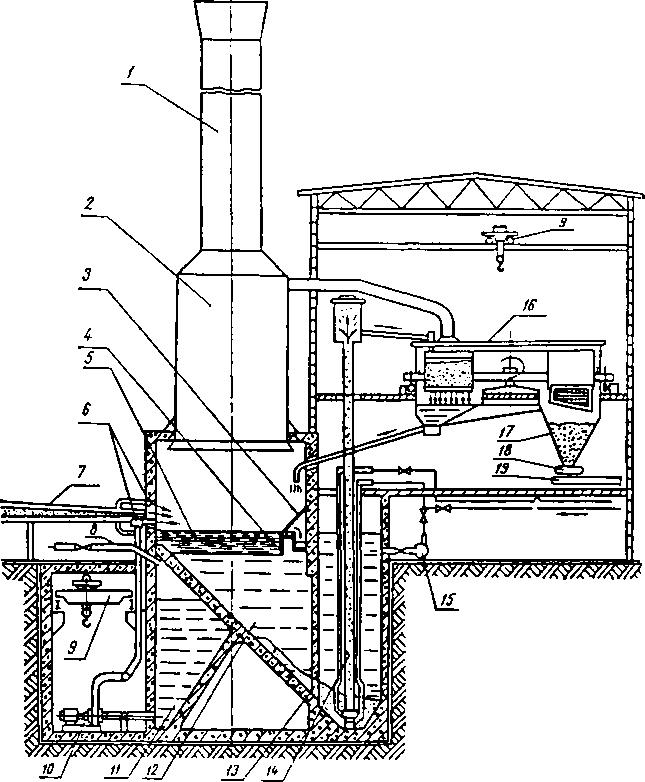 Схема припечной гранулирующей