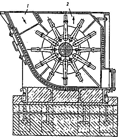 Схема шахтной молотковой