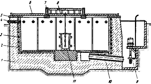 Для откачки воды по трубе 10