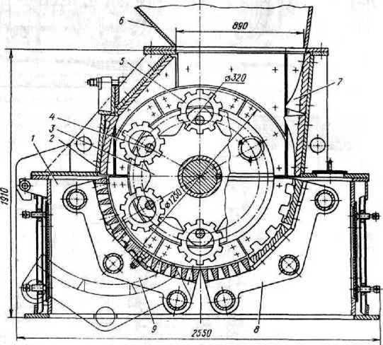 Однороторная дробилка СМД-135