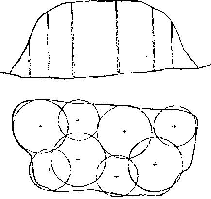 Рис. 3.12.  Схема размещения газовых скважин на высоконагруженном полигоне.  Биогаз, добываемый на полигонах...